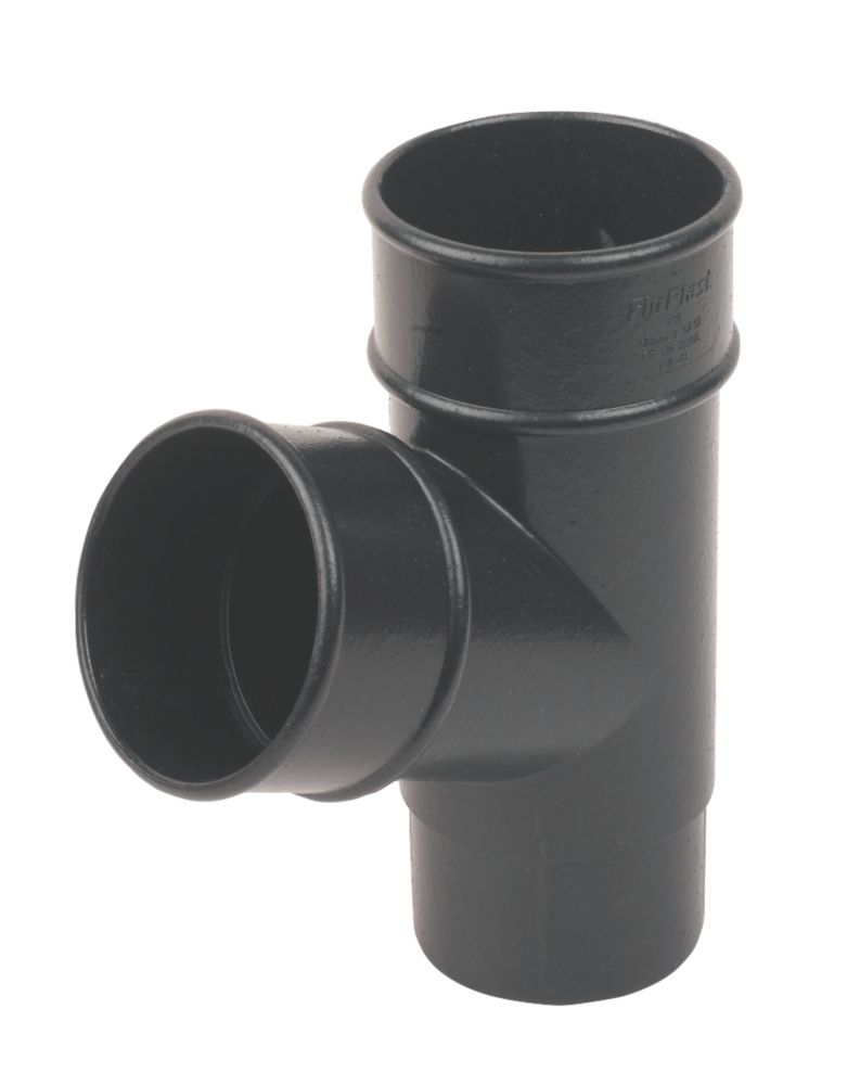 Image of FloPlast Cast Iron Effect Branch 68mm Black