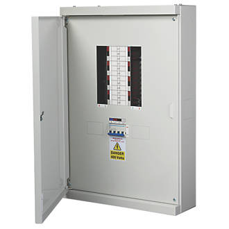 Image of Chint Nxdb 8-Way 125A TP & N Meter Ready 3-Phase Distribution Board