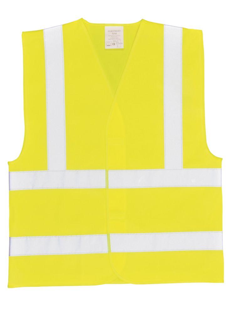 "Image of Hi-Vis Waistcoat Yellow Large / X Large 52"" Chest"