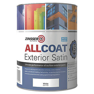 Image of Zinsser All Coat Exterior Paint White 1Ltr