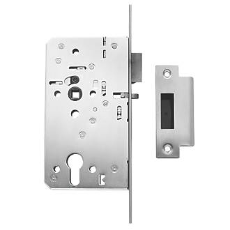 Image of Briton Stainless Steel Euro Profile Mortice Night Latch - Square Forend 94mm Case - 60mm Backset