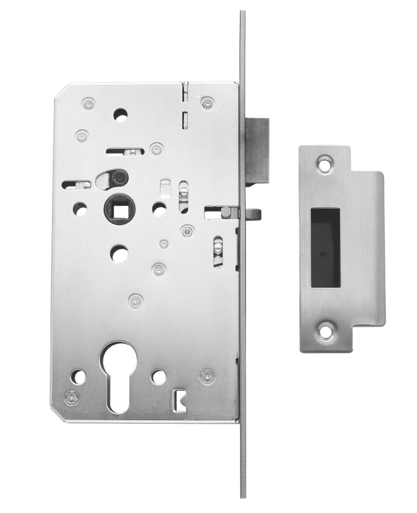 """Image of Briton Euro Profile Mortice Night Latch - Square Forend Stainless Steel 2 1/3"""""""