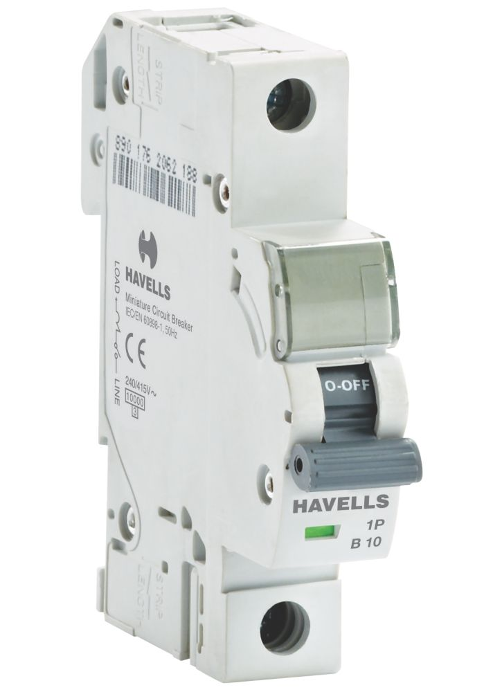 Image of Havells 10A Single Pole Type B MCB