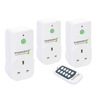 Image of Energenie 13A Wireless Remote Control Sockets Pack of 3