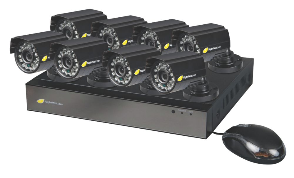 Image of Nightwatcher NW-8AHD-1TB-C720-8B 8-Channel CCTV DVR Kit & 8 Cameras