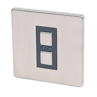 Image of Lightwave 1-Gang 2-Way LED Generation 1 Dimmer Switch Stainless Steel