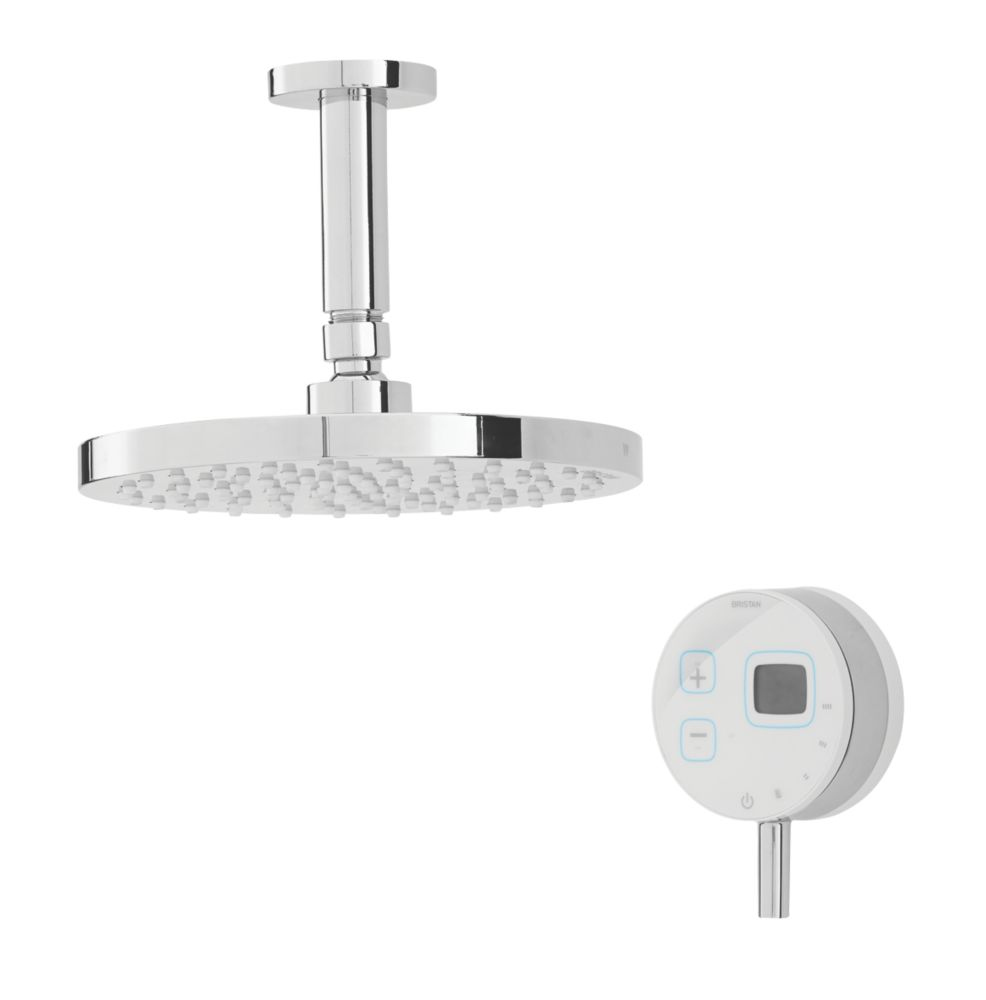 Image of Bristan Artisan Evo HP Ceiling Fed Thermostatic Mixer Shower w/Digital Control White