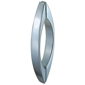 Image of Aqualux Curved Shower Door Bar Chrome 180mm Single