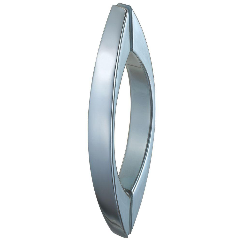 Image of Aqualux Curved Shower Door Bar Chrome 180mm Single