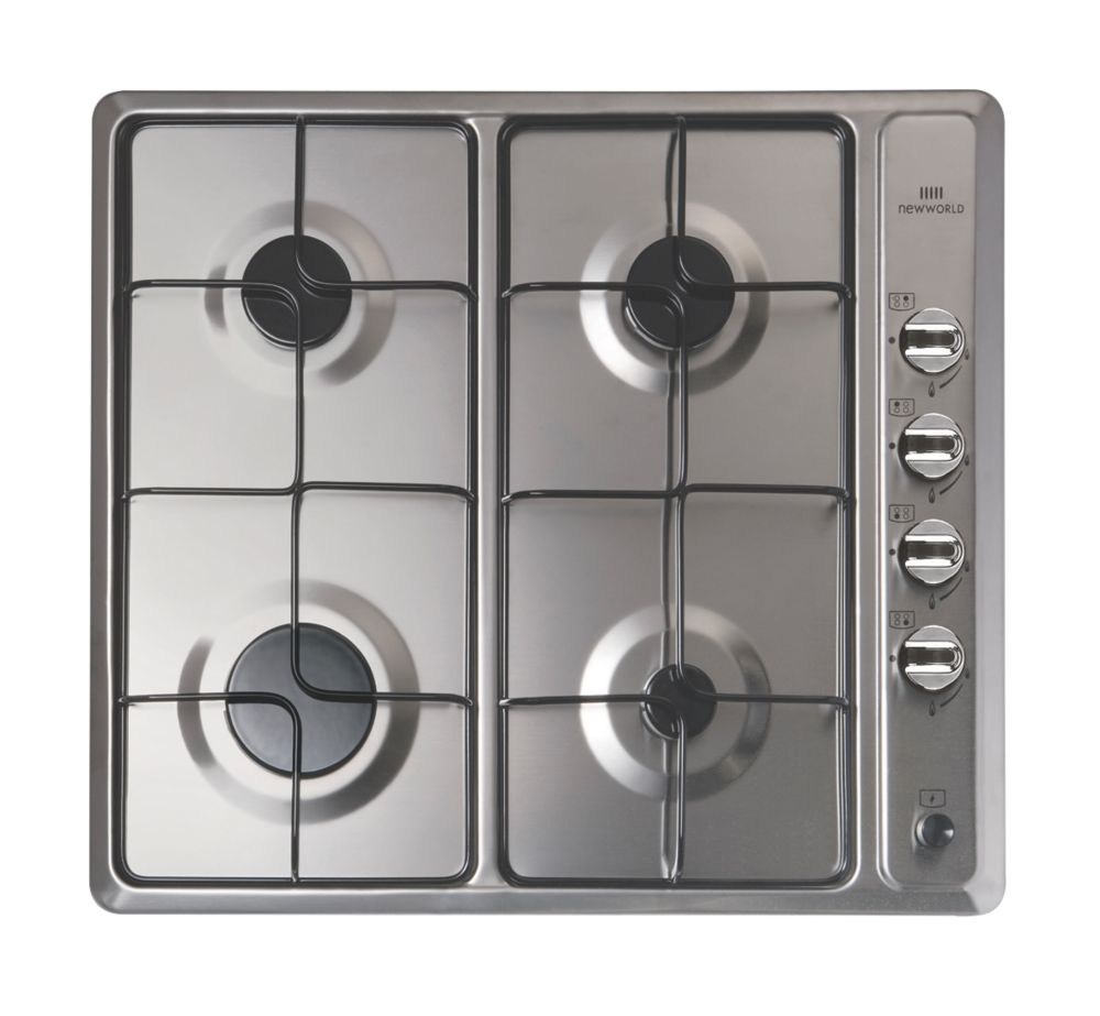 Image of New World NWGHU601 Gas Hob Stainless Steel 510 x 580mm