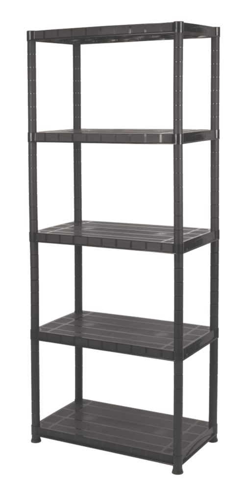 Image of Solid Plastic Shelving 5-Tier
