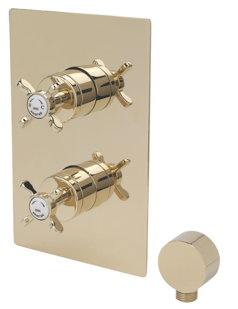 Image of Bristan 1901 Built-In Shower Valve with Divertor Fixed Gold