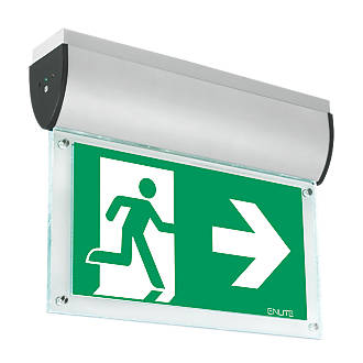 Image of Enlite Maintained or Non-Maintained LED Emergency Ceiling-Mounted Exit Sign without Legend 7W