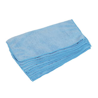 Image of Microfibre Cleaning Cloths Blue 10 Pack