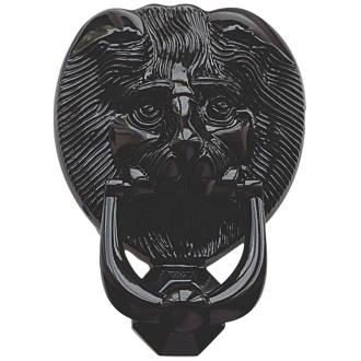 Image of Fab & Fix Lions Head Door Knocker Black 98 x 136mm