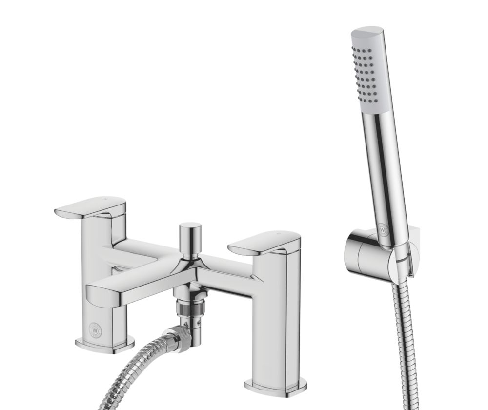 Image of Watersmith Heritage Clyde Deck-Mounted Bath / Shower Mixer Tap
