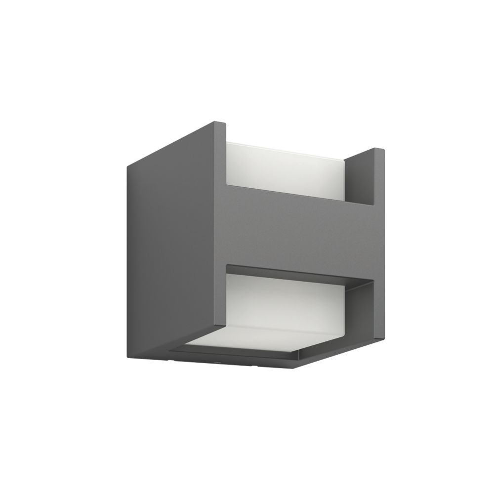 Image of Philips Arbour Black LED Up & Down Outdoor Wall Light 600lm 4.5W