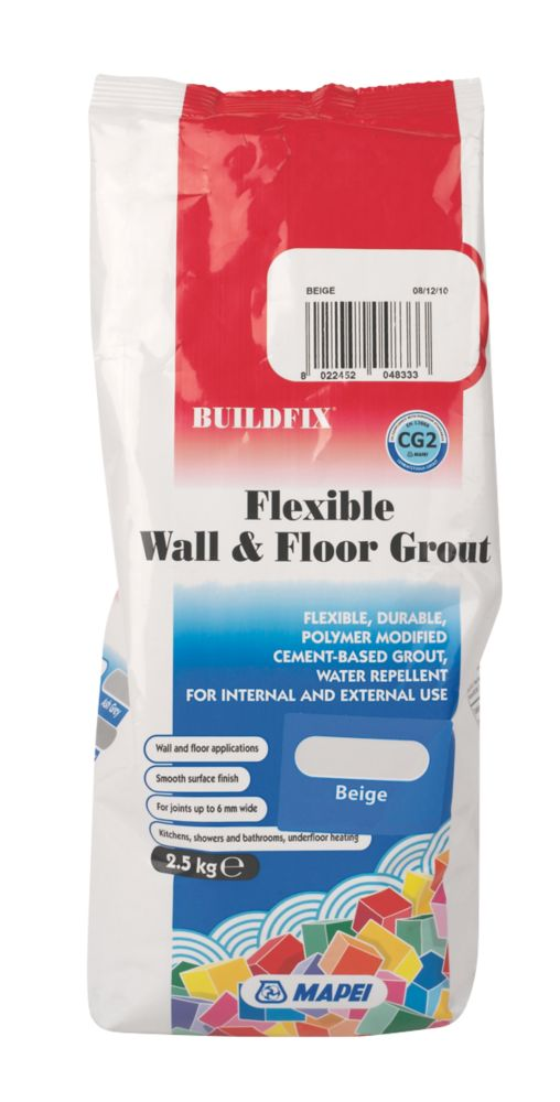 Image of Mapei BuildFix Flexible Wall & Floor Grout Beige 2.5kg