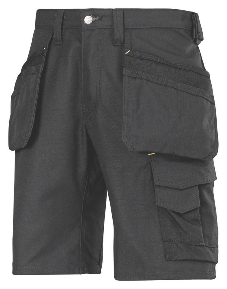 "Image of Snickers 3014 Craftsmen Multi-Pocket Shorts Black 36"" W"