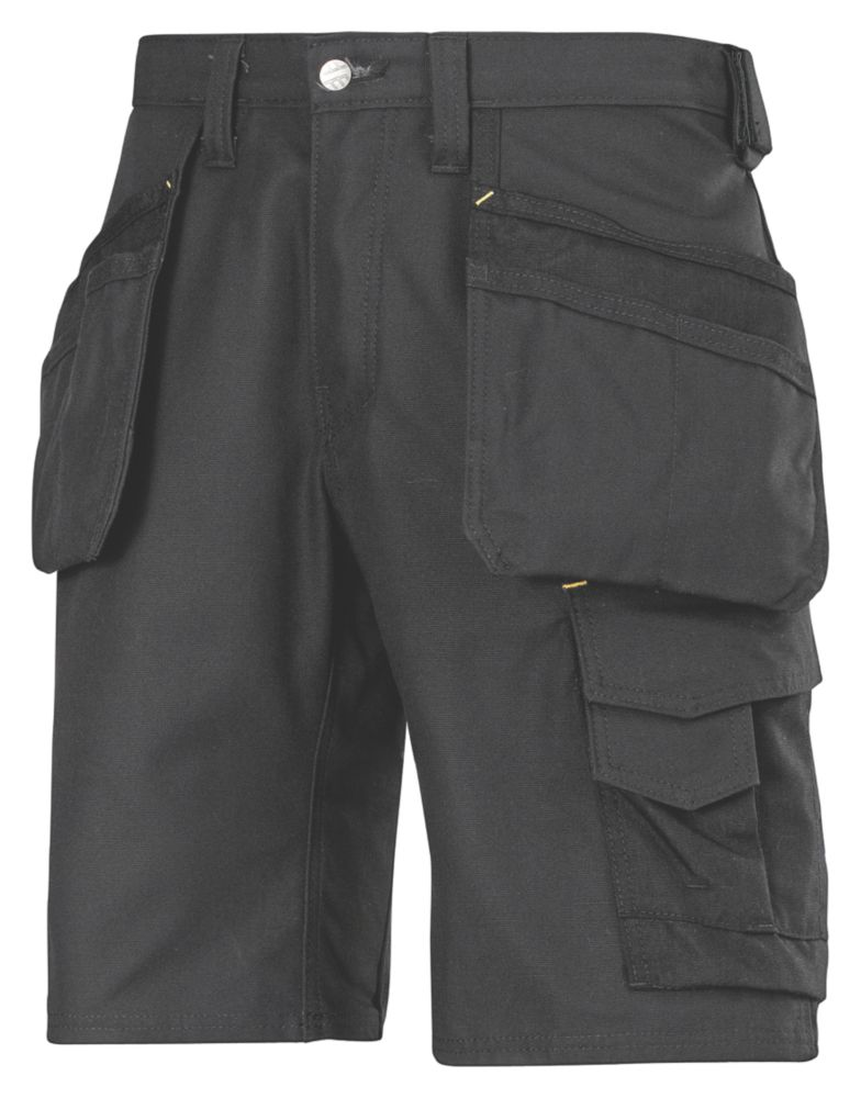 "Image of Snickers 3014 Craftsmen Multi-Pocket Shorts Black 41"" W"