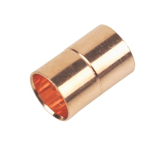 Image of Flomasta End Feed Straight Couplers 10mm x 10mm 20 Pack