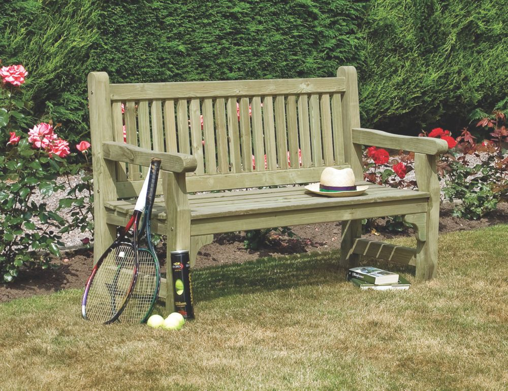 Image of Rowlinson Softwood Garden Bench Softwood 1500 x 670 x 950mm