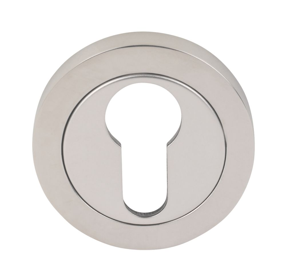Image of Eurospec Euro Profile Escutcheon Bright Stainless Steel 52mm