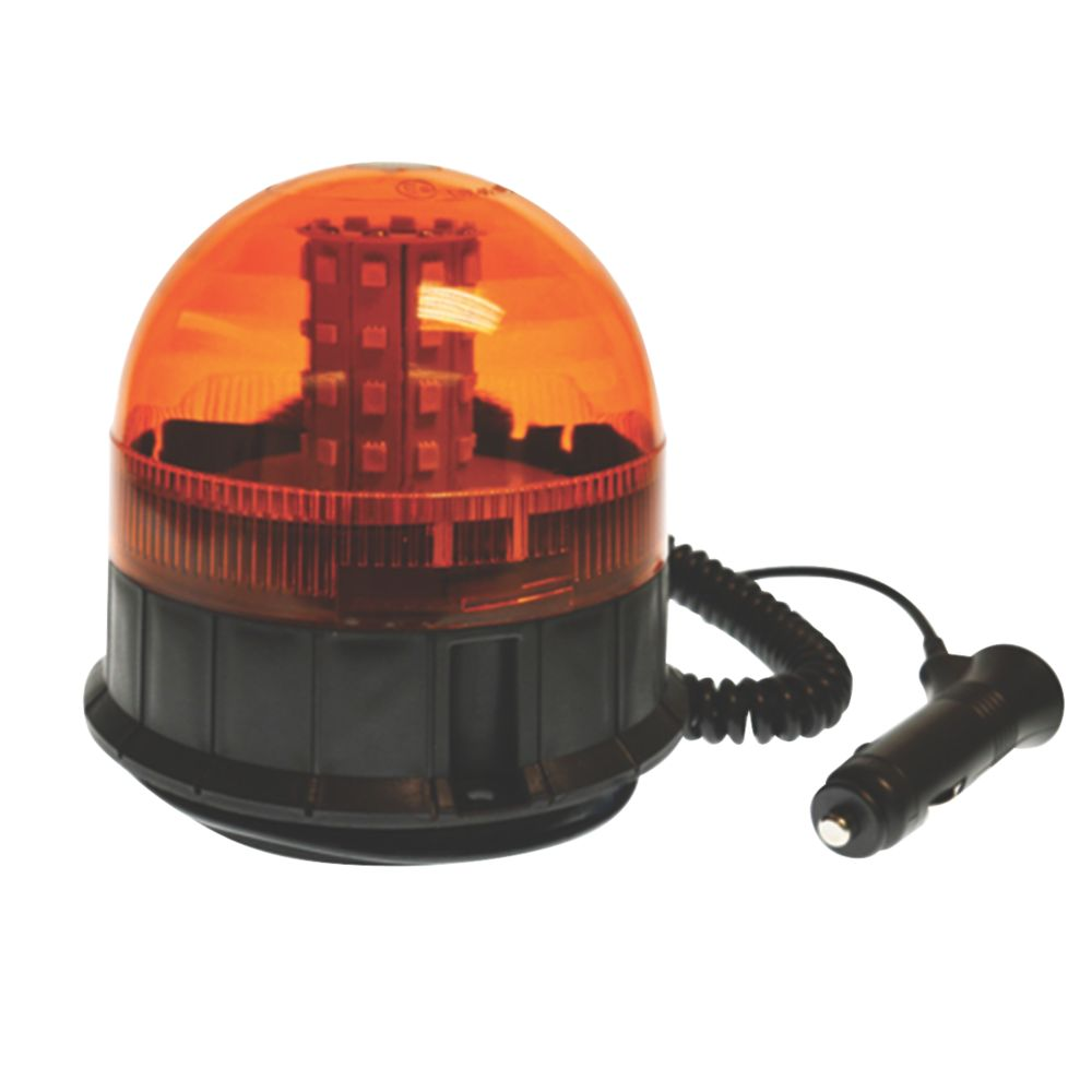 Image of Maypole Amber Magnetic LED Beacon 40 x 3W 200mm