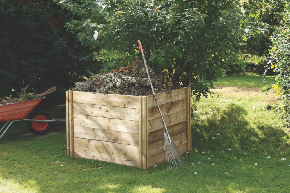 Image of Forest Slot-Down Composter Natural 1.1 x 0.8 x 1m