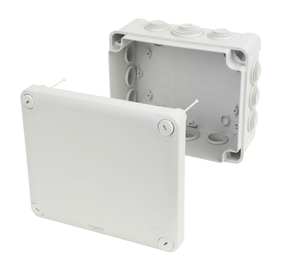 Image of 12-Entry Junction Box with Knockouts Grey 195 x 165 x 90mm