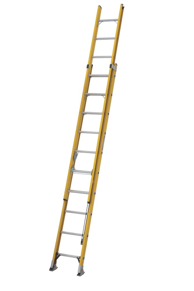 Image of ALFLO 77531 Double Extension Extension Ladder 20 Rungs Max. Height 5.06m