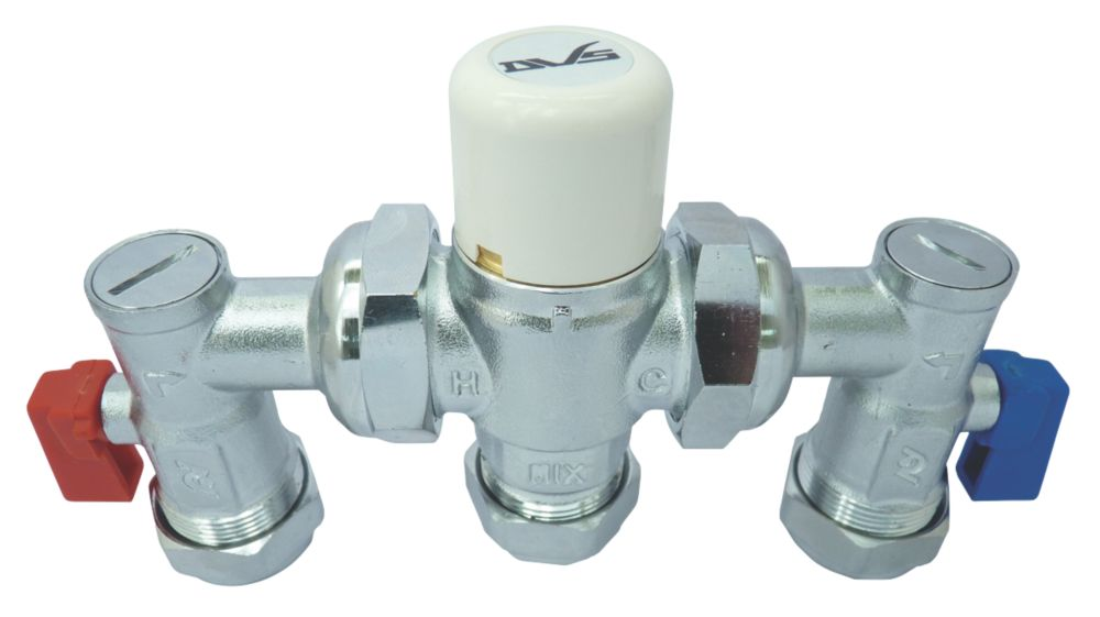 Image of Dart Valley Systems 4 in 1 Thermostatic Mixing Valve 15/22mm Chrome