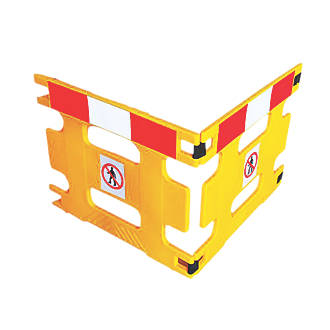 Image of Addgards Handigard 2-Panel Barrier Yellow w/Red & White Stripe