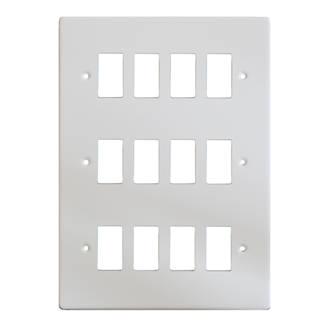 Varilight XDQPG12 12Gang PowerGrid Faceplate White