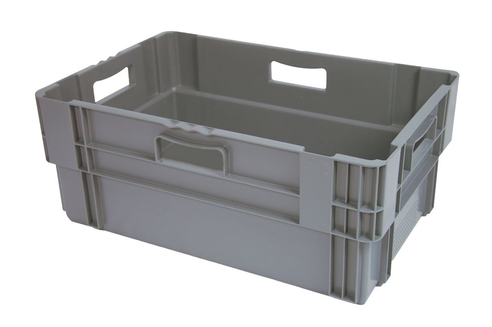 Image of 47Ltr Stack & Nest Container 600 x 400 x 240mm 5 Pack