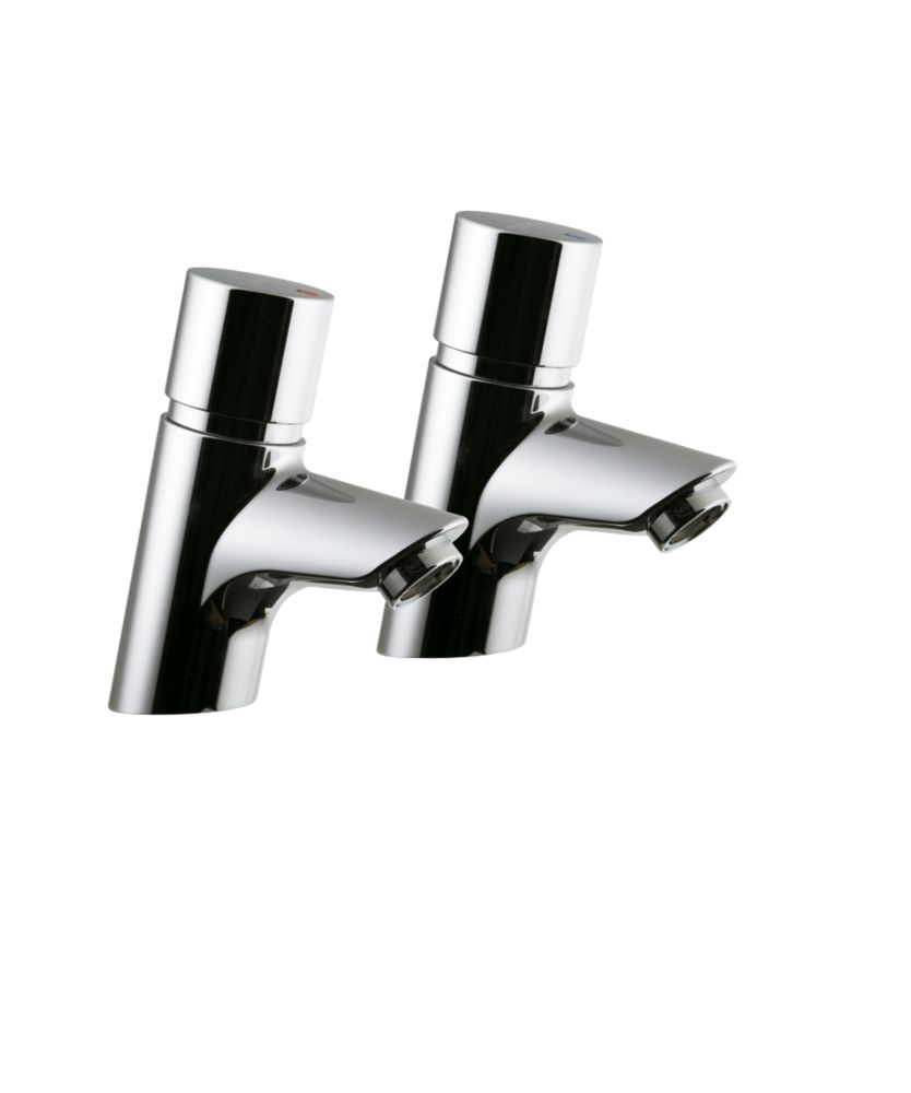 Image of Armitage Shanks Avon 21 Self-Closing Basin Pillar Taps