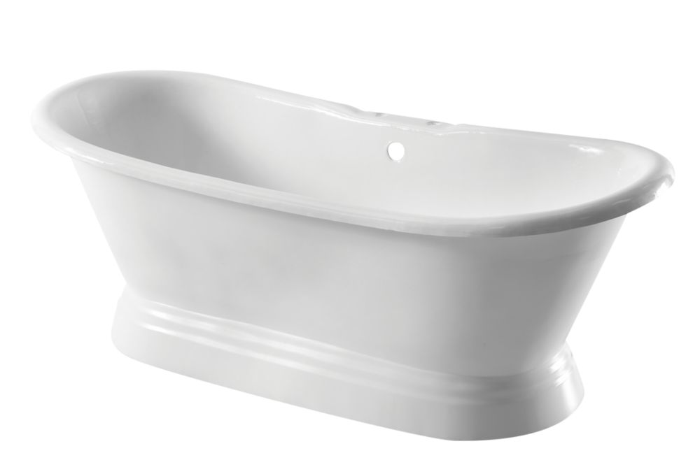 Image of Arroll Double-Ended Bath Cast Iron 2 Tap Holes 1829mm
