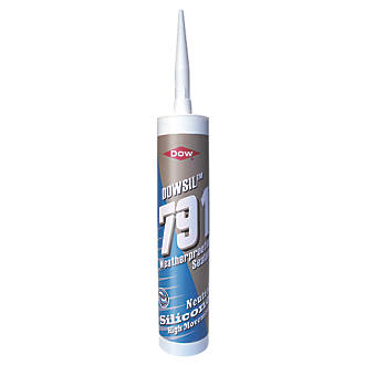 Image of Dow 791 Weatherproofing Silicone Sealant Black 310ml