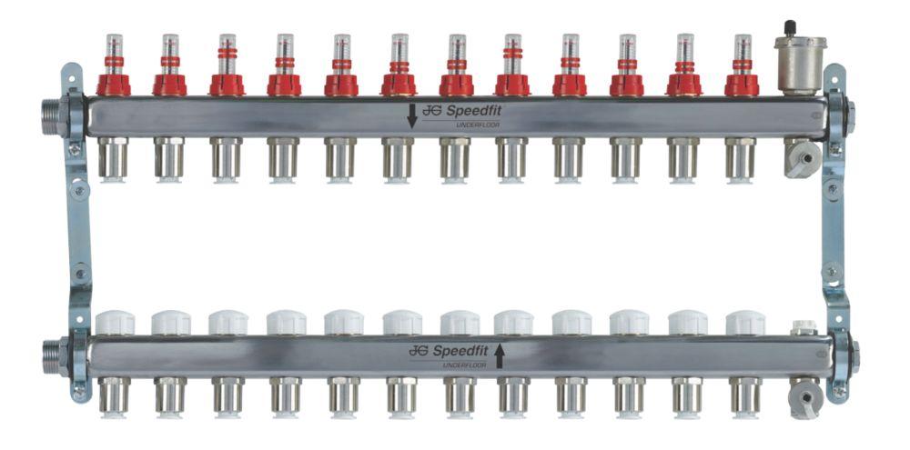 Image of JG Speedfit 12-Port Manifold Set Chrome