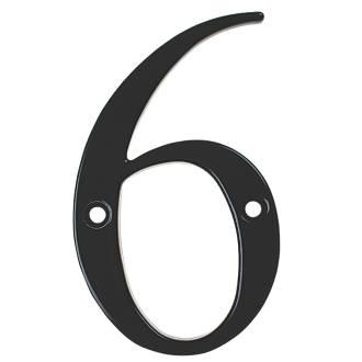 Image of Fab & Fix Door Numeral 6, 9 Black 80mm