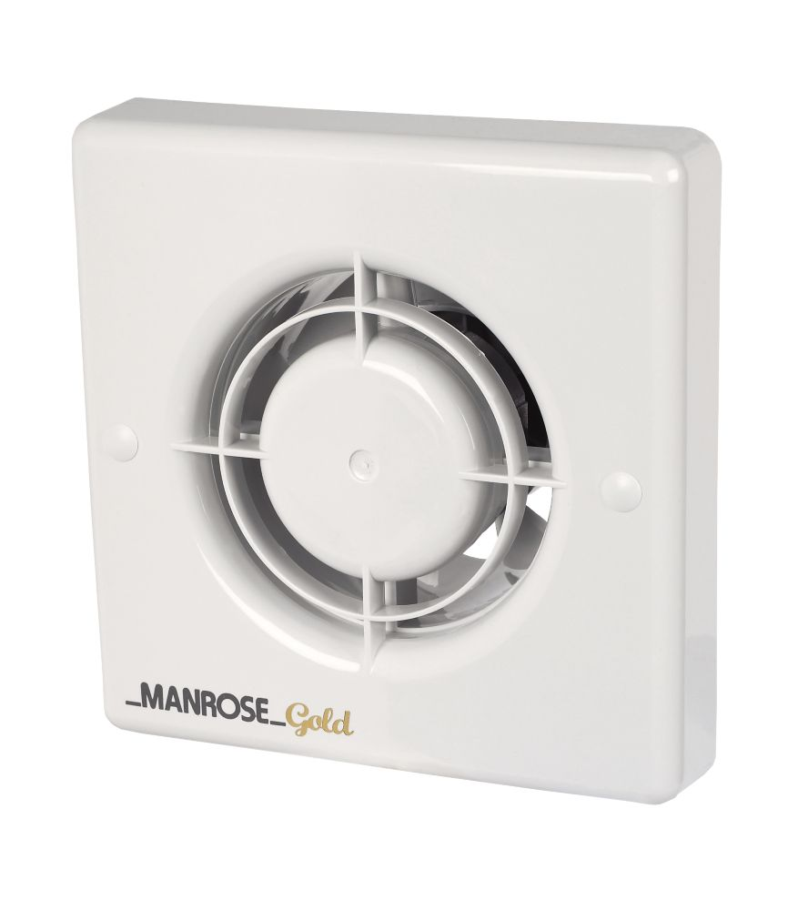Bathroom Extractor Fan manrose mg100t 20w gold standard axial bathroom extractor fan w