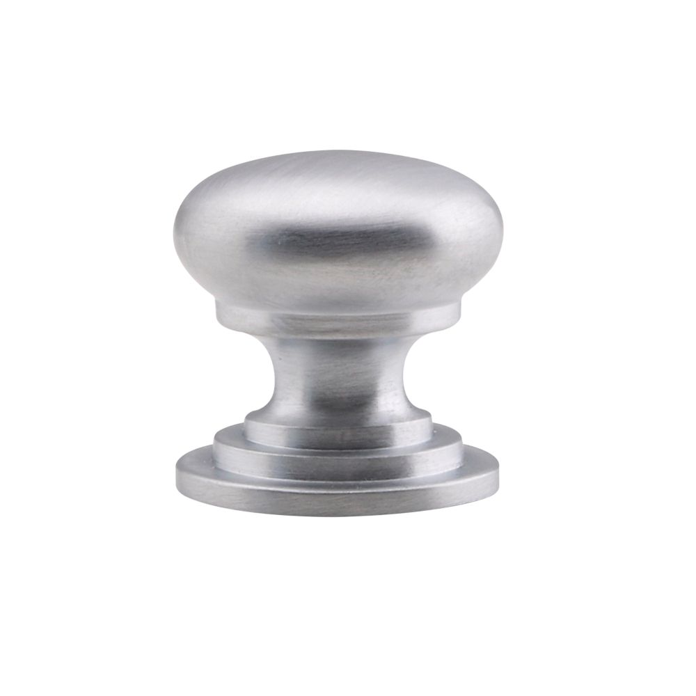 Image of Fingertip Design Victorian Cupboard Knob Satin Chrome 38mm
