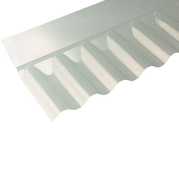 "Image of Vistalux Corrugated ASB 3"" PVC Sheet Flashing Clear 695 x 220mm 6 Pack"