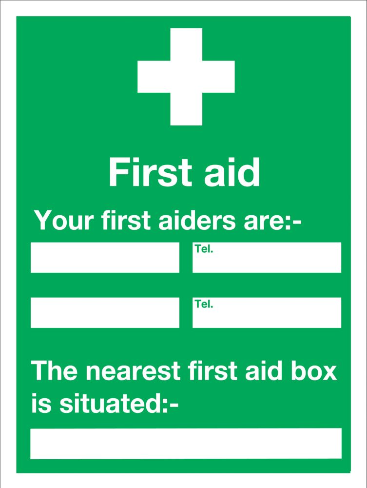 "Image of First Aider"" Notice Sign 200 x 150mm"