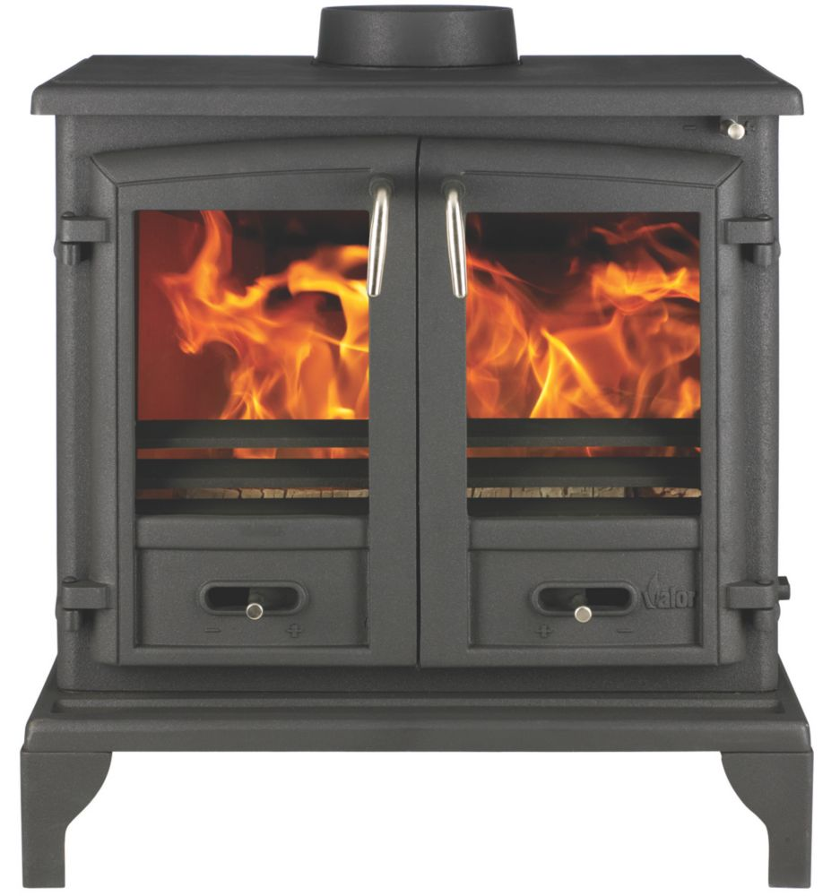 Image of Valor Baltimore Black Solid Fuel Stove