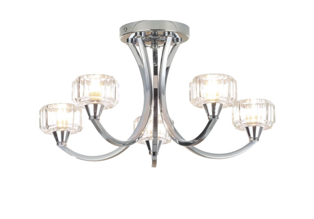 Bathroom Lights Screwfix spa octans 5-light bathroom ceiling light chrome g9 28w | bathroom