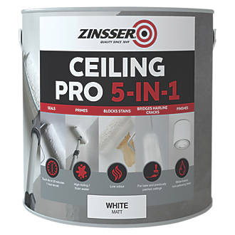Image of Zinsser Ceiling Pro 5-in-1 Paint White 2.5Ltr