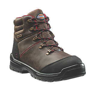 Image of Dickies Cameron Safety Boots Brown Size 10