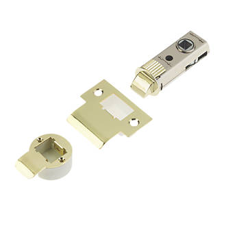 Image of Union Polished Brass Tubular Mortice Latch 60mm Case - 44mm Backset