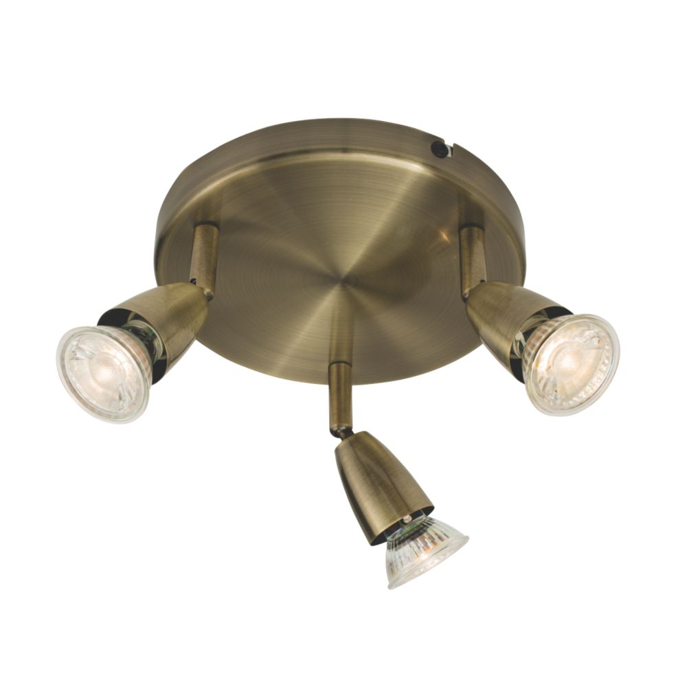 Image of Saxby Amalfi 3-Light Spotlight Antique Brass